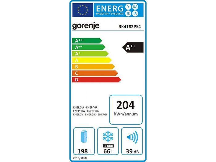 Gorenje RK4182PS4 energetický štítok