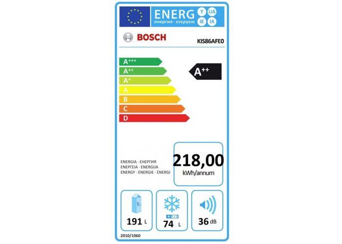 Bosch KIS86AFE0 energetický štítok