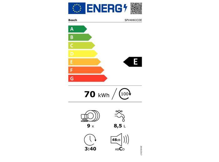Bosch SPV4HKX33E energetický štítok
