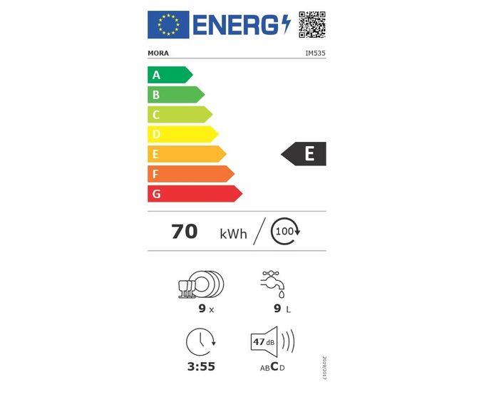 Mora IM 535 energetický štítok