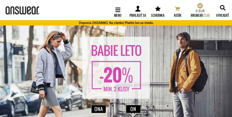 d7693e8e76ac Módny projekt answear.sk ponúka veľký výber oblečenia