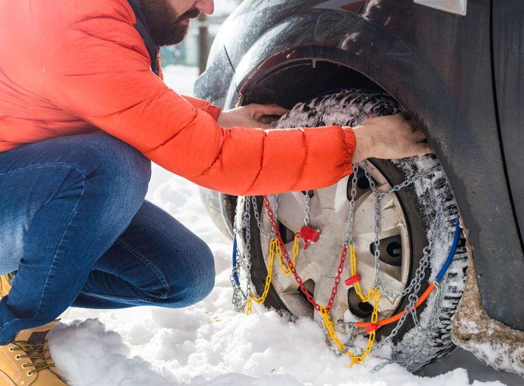 Nasadzovanie snehových reťazí