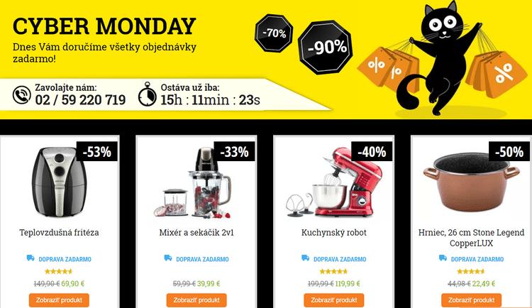 Cyber Monday v e-shope Delimano.sk