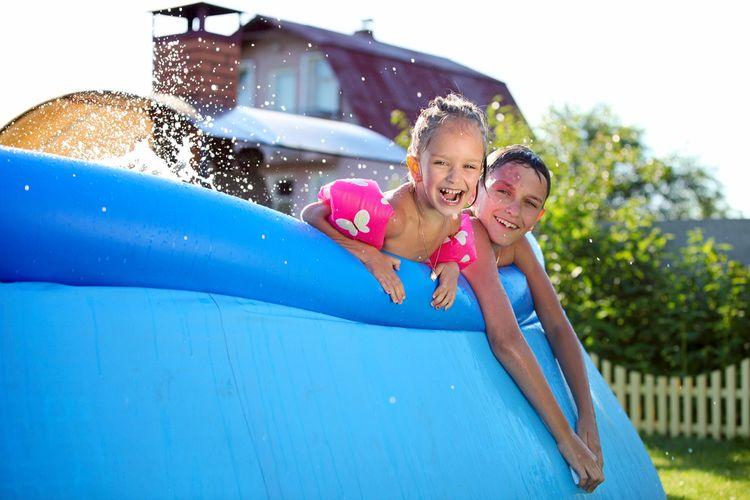 Nadzemný gumový bazén