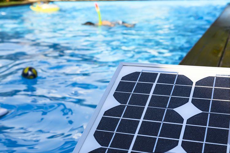 Solárny ohrev bazéna