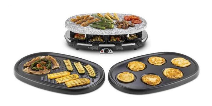 Rakletovací gril Klarstein All-U-Can-Grill s 3 vymeniteľnými platňami