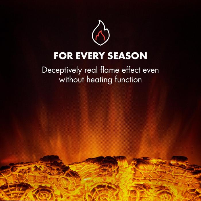 Klarstein Chamonix simulácia plameňa