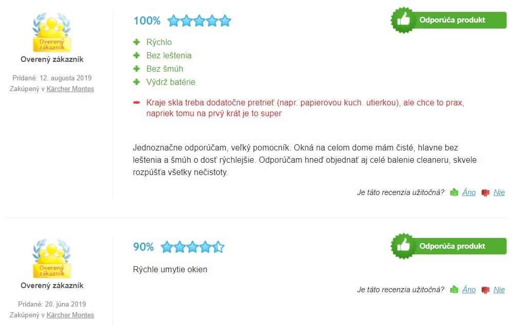 Recenzie a skúsenosti s akumulátorovým čističom okien Kärcher WV 6 Plus
