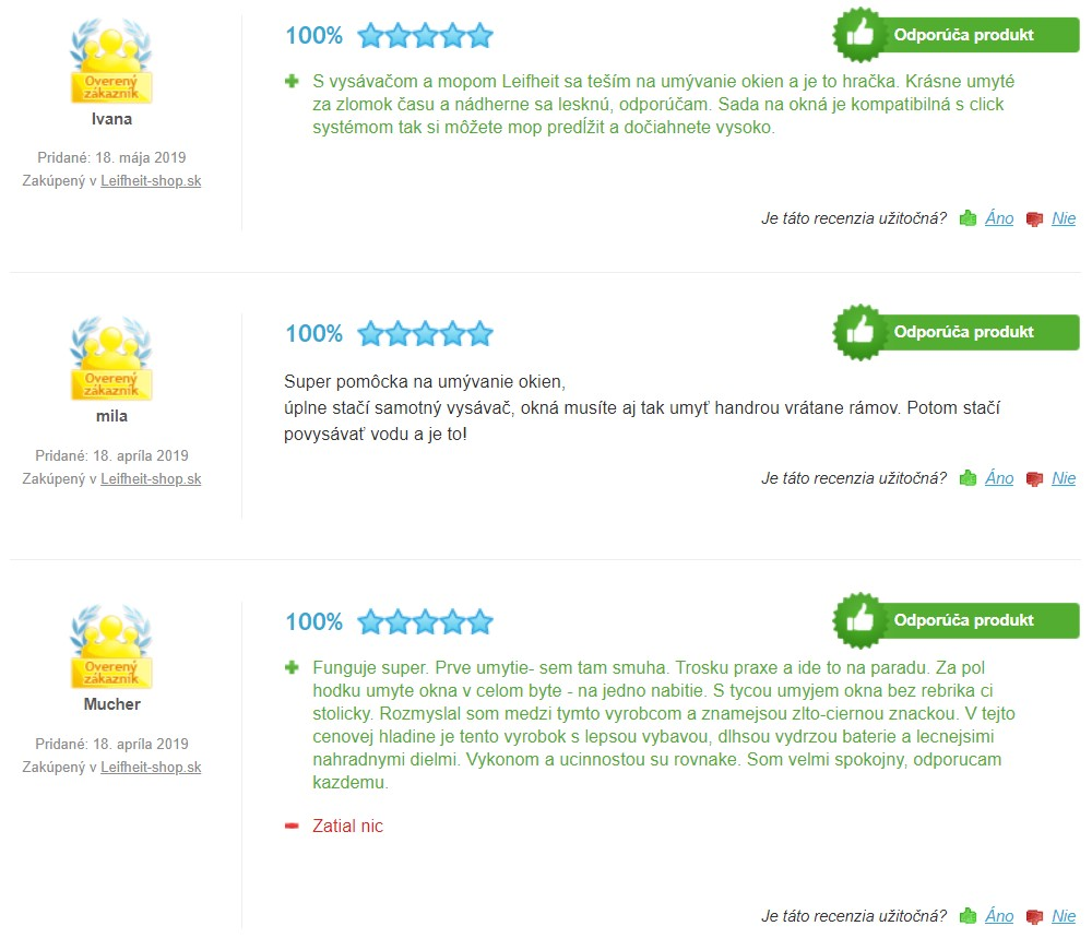 Recenzie a skúsenosti s čističom okien Leifheit 51003 Window Cleaner