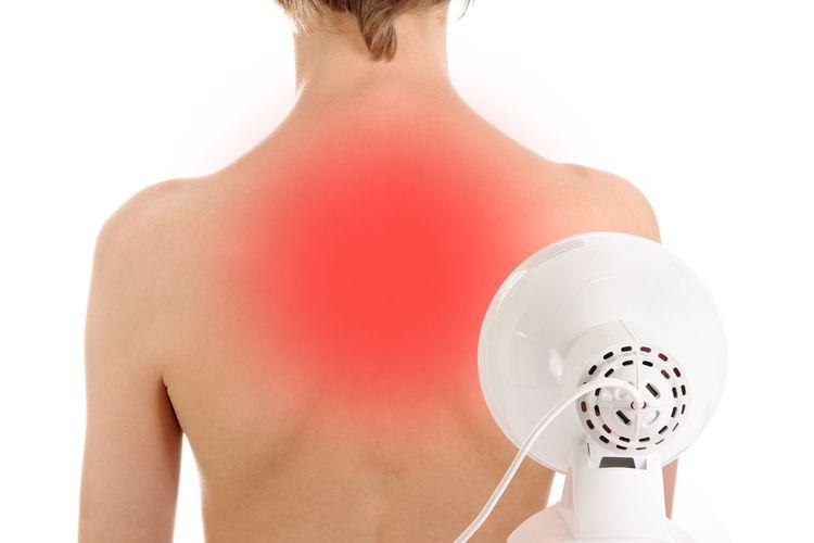 Použitie infralampy na liečbu chrbta