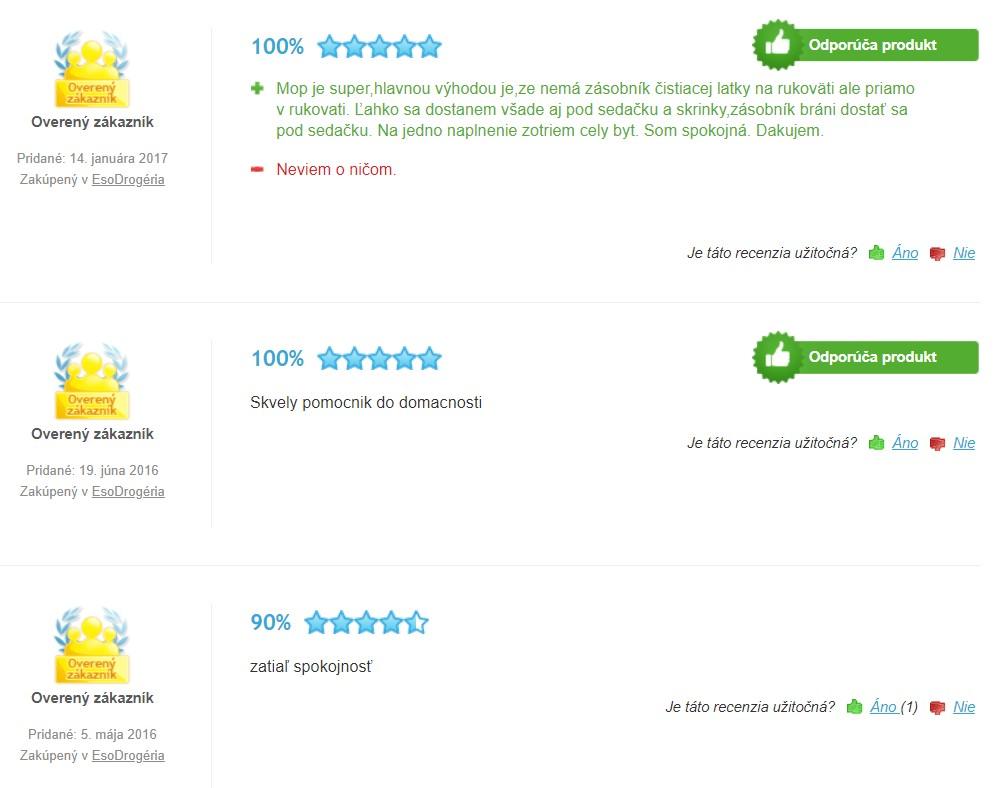 Recenzia a skúsenosti s mopom Vileda 1.2. Spray mop