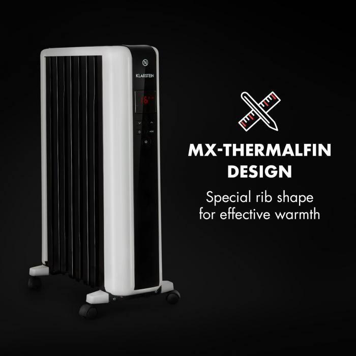 Dizajn olejového radiátora Klarstein Thermaxx 2000