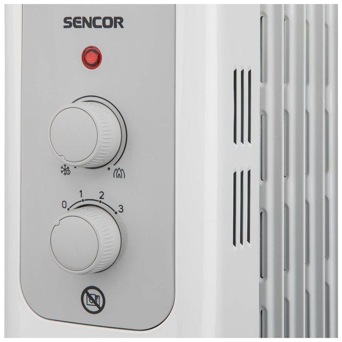 Ovládanie olejového radiátora Sencor SOH 3209WH