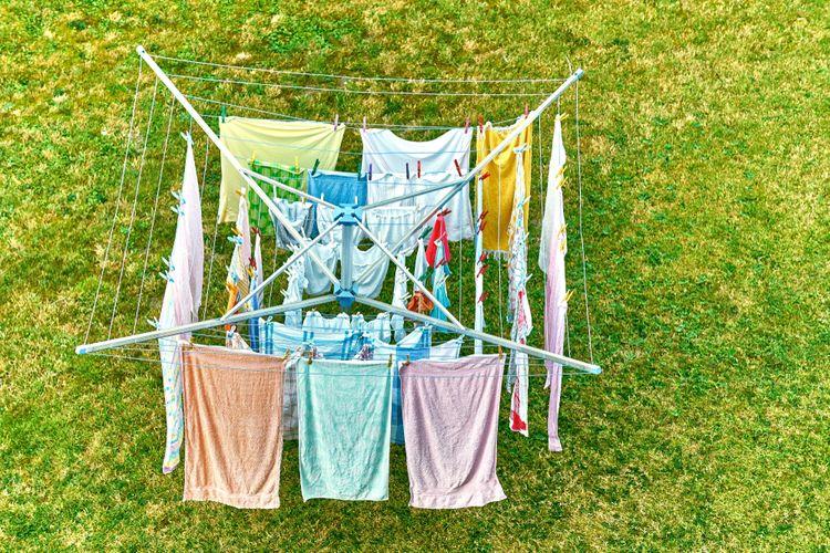 Sušiak na prádlo do záhrady