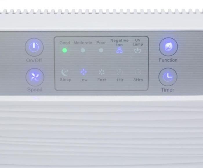 Ovládací panel čističky vzduchu Klarstein Dalmatien