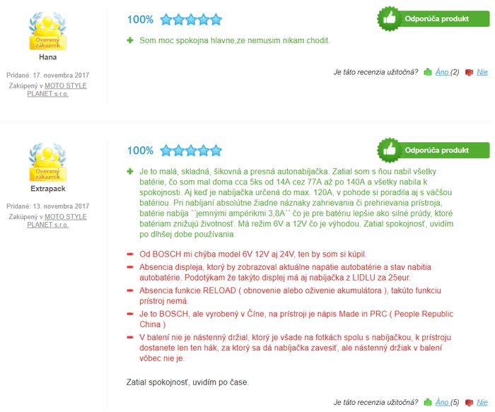 Recenzie a skúsenosti s nabíjačkou Bosch C3 6V/12V