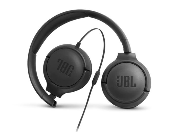 Bezdrôtové slúchadlá cez hlavu JBL Tune 500BT s koženkovými náušníkmi