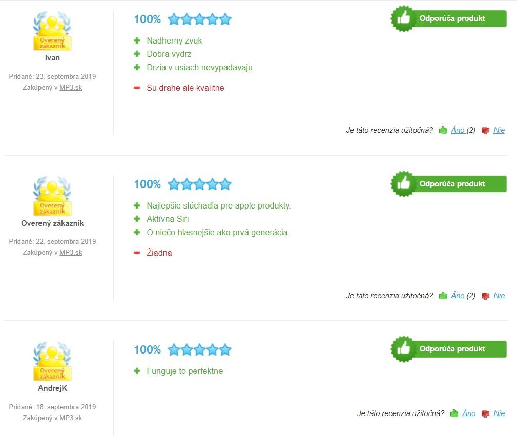 Recenzie a skúsenosti so slúchadlami do uší Apple AirPods