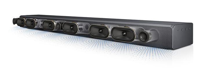 Soundbar Samsung HW-MS650 s 9 reproduktormi