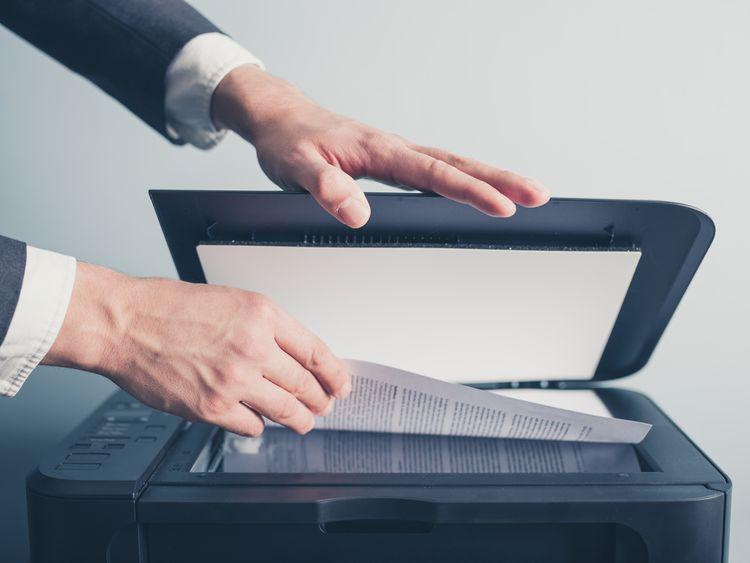 Stolný skener