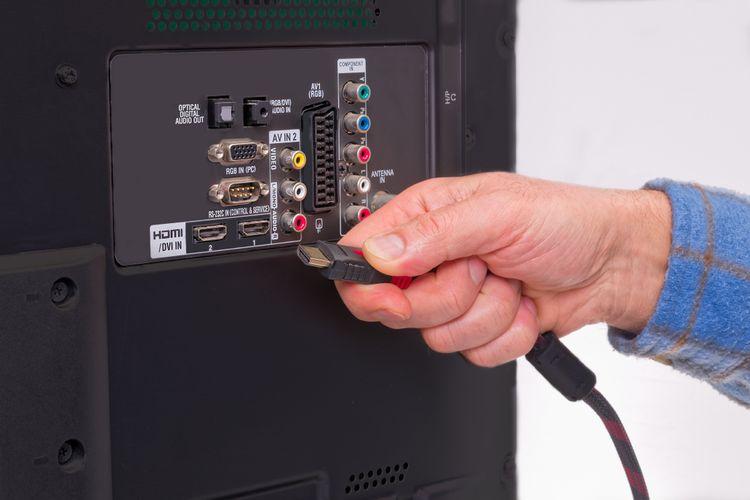 Konektory, vstupy televízora