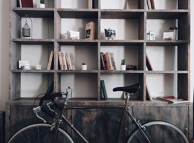 Cestný bicykel v byte