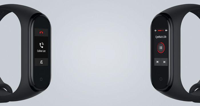 Prichádzajúci hovor na náramku Xiaomi Mi Band 4
