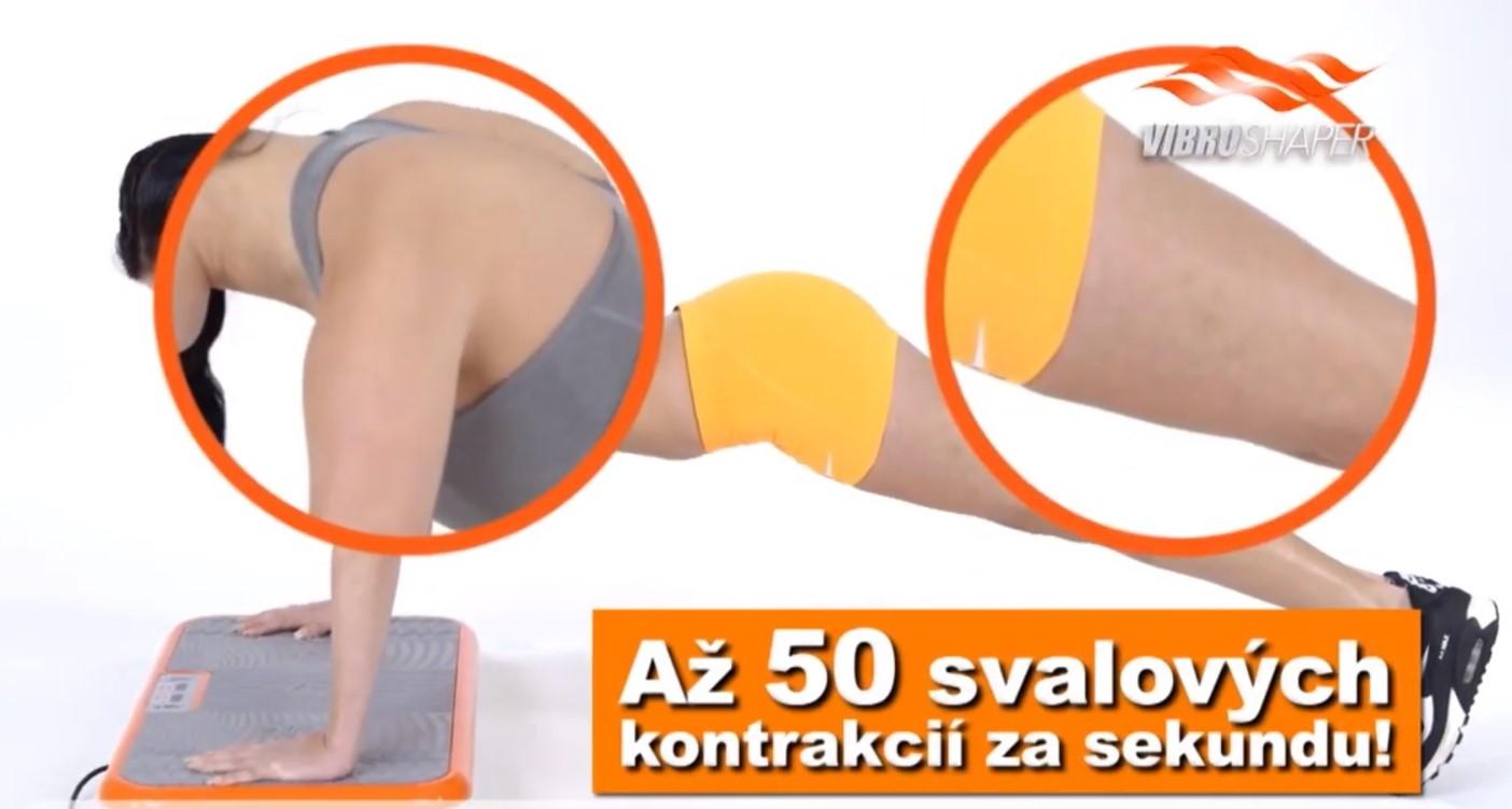 Gymbit Vibroshaper svalové kontrakcie pri cvičení