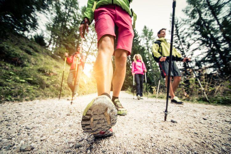 Prechádzka s Nordic walking palicami