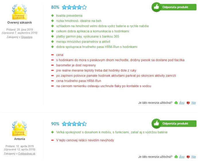 Recenzie a skúsenosti so športovými hodinkami Garmin Forerunner 645