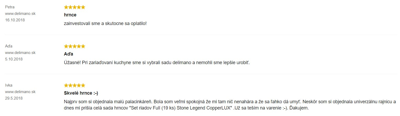Recenzie a skúsenosti so Setom riadov Full (19 ks) Stone Legend CopperLUX