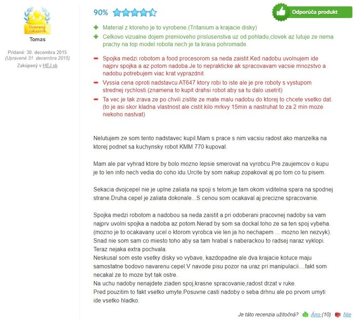 Recenzie a skúsenosti s food processorom Kenwood KAH 647 PL
