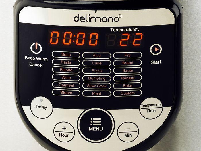 Ovládací panel multifunkčného hrnca Delimano 18v1