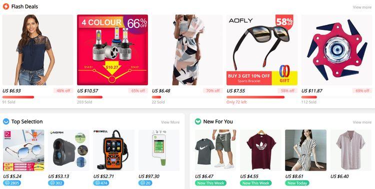 Aliexpress.com tipy na produkty