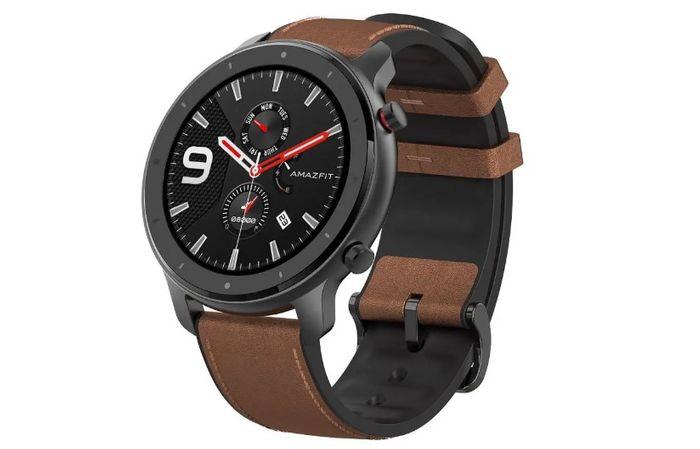 Inteligentné hodinky Xiaomi Amazfit GTR 47 mm s hnedým remienkom