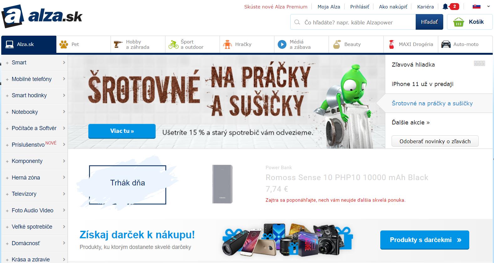 Internetový obchod Alza.sk