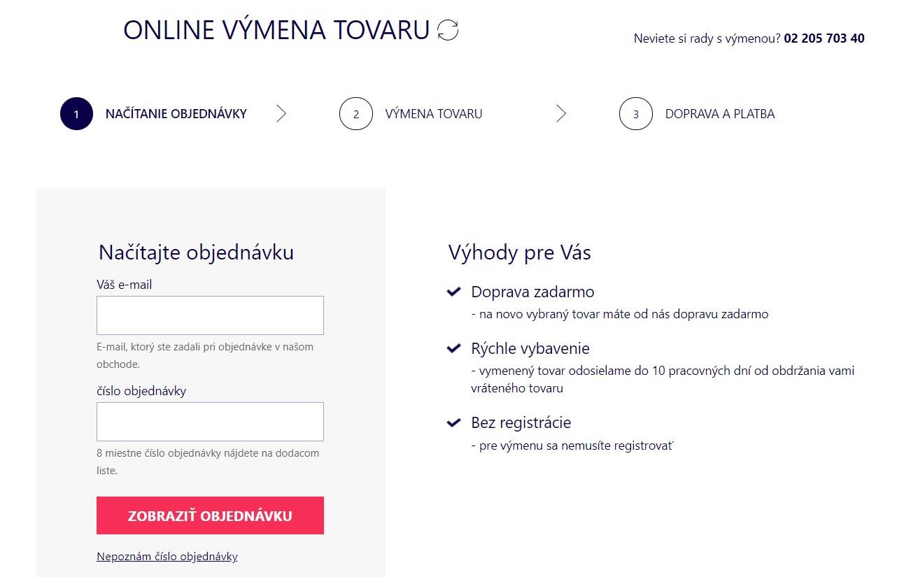Astratex.sk online výmena tovaru