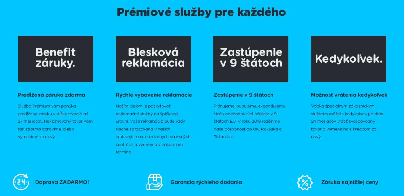 Bestcena.sk Prémium služby