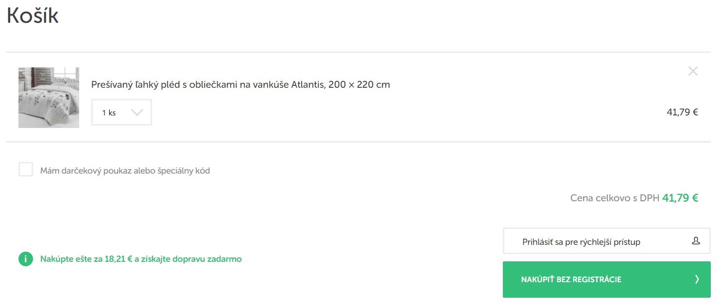 Nákup v e-shope bonami.sk