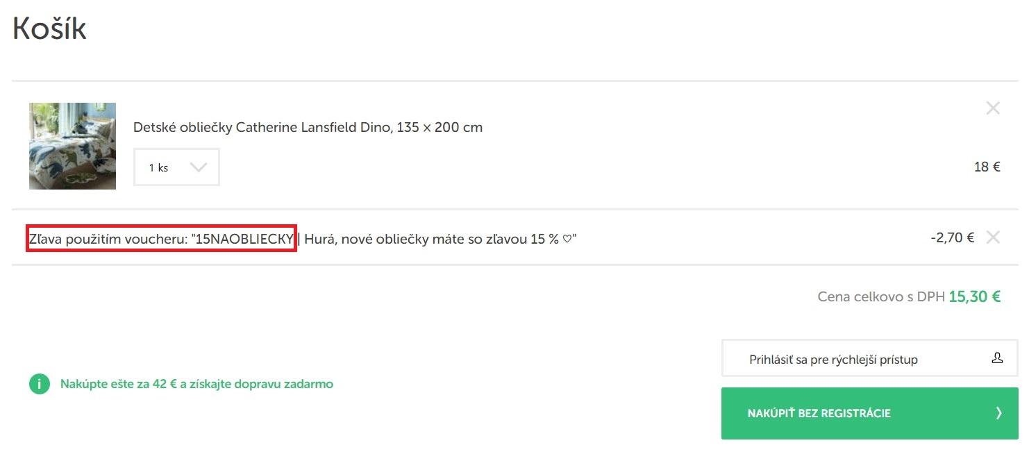 Nákup v e-shope Bonami.sk so zľavovým kódom