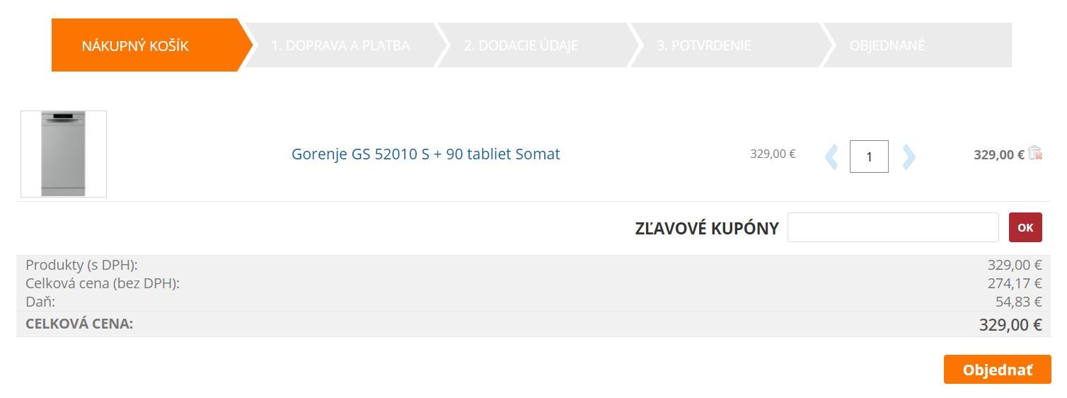 Nákup v internetovom obchode e-spotrebice.sk