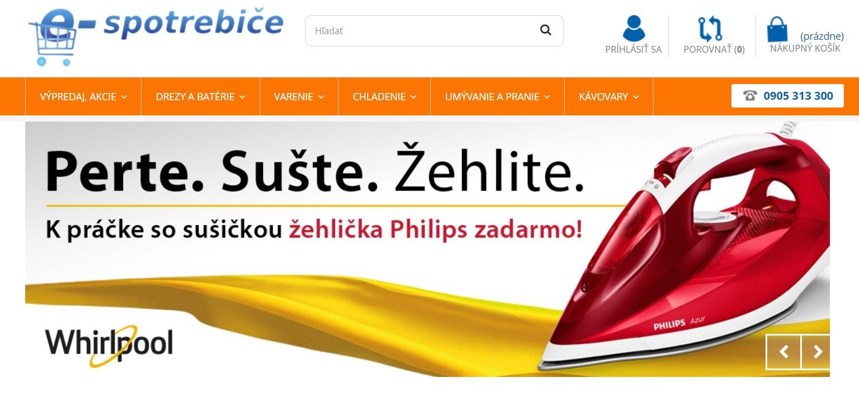 Internetový obchod e-spotrebice.sk
