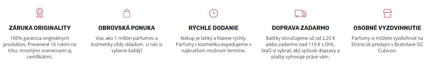 parfemy-elnino.sk výhody obchodu