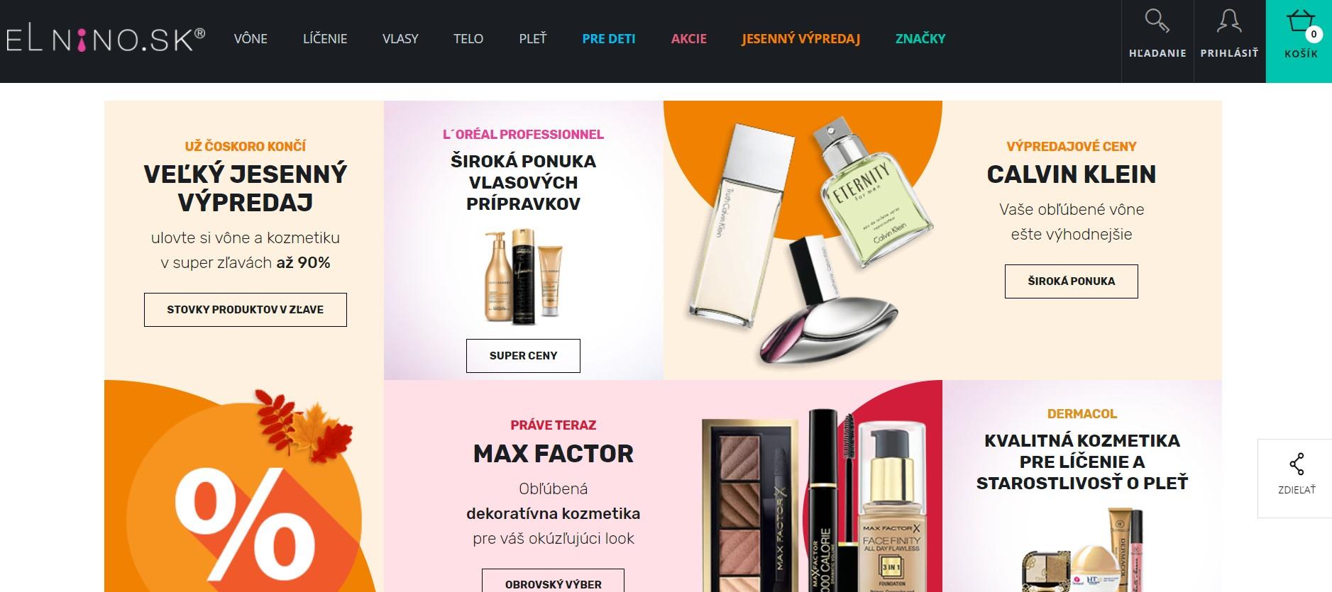 Internetový obchod parfemy-elnino.sk