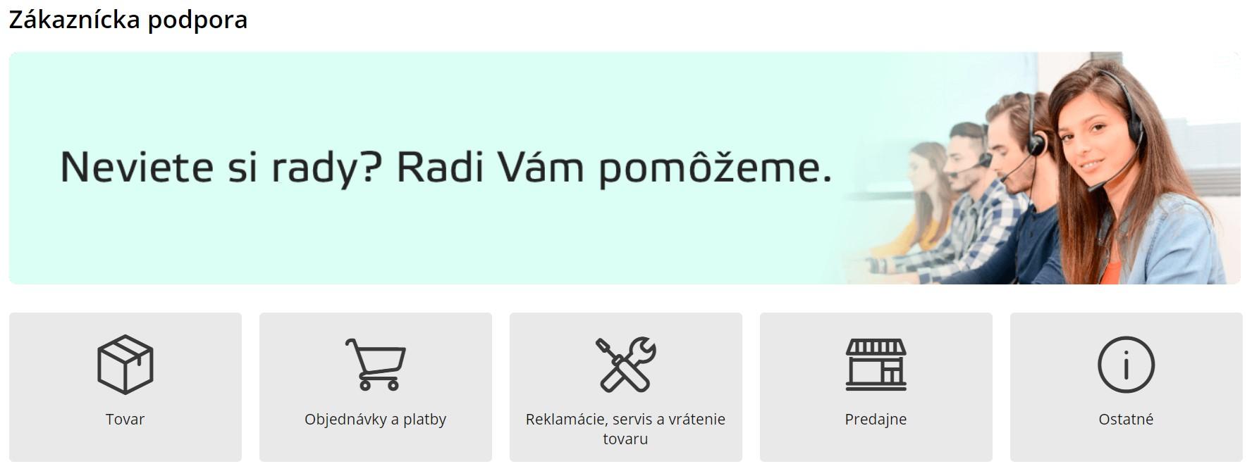 insportline.sk zákaznícka podpora