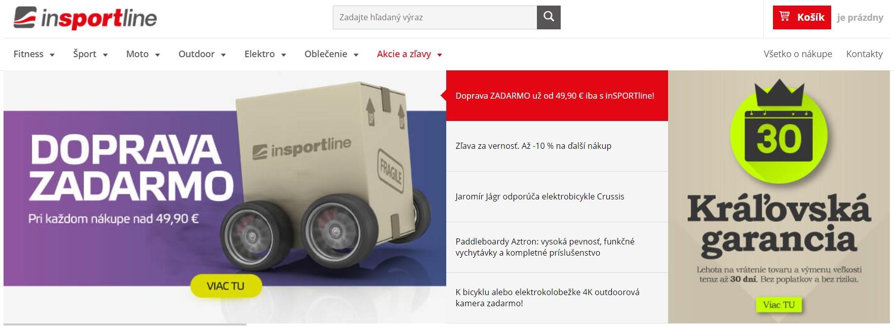 Internetový obchod Insportline.sk
