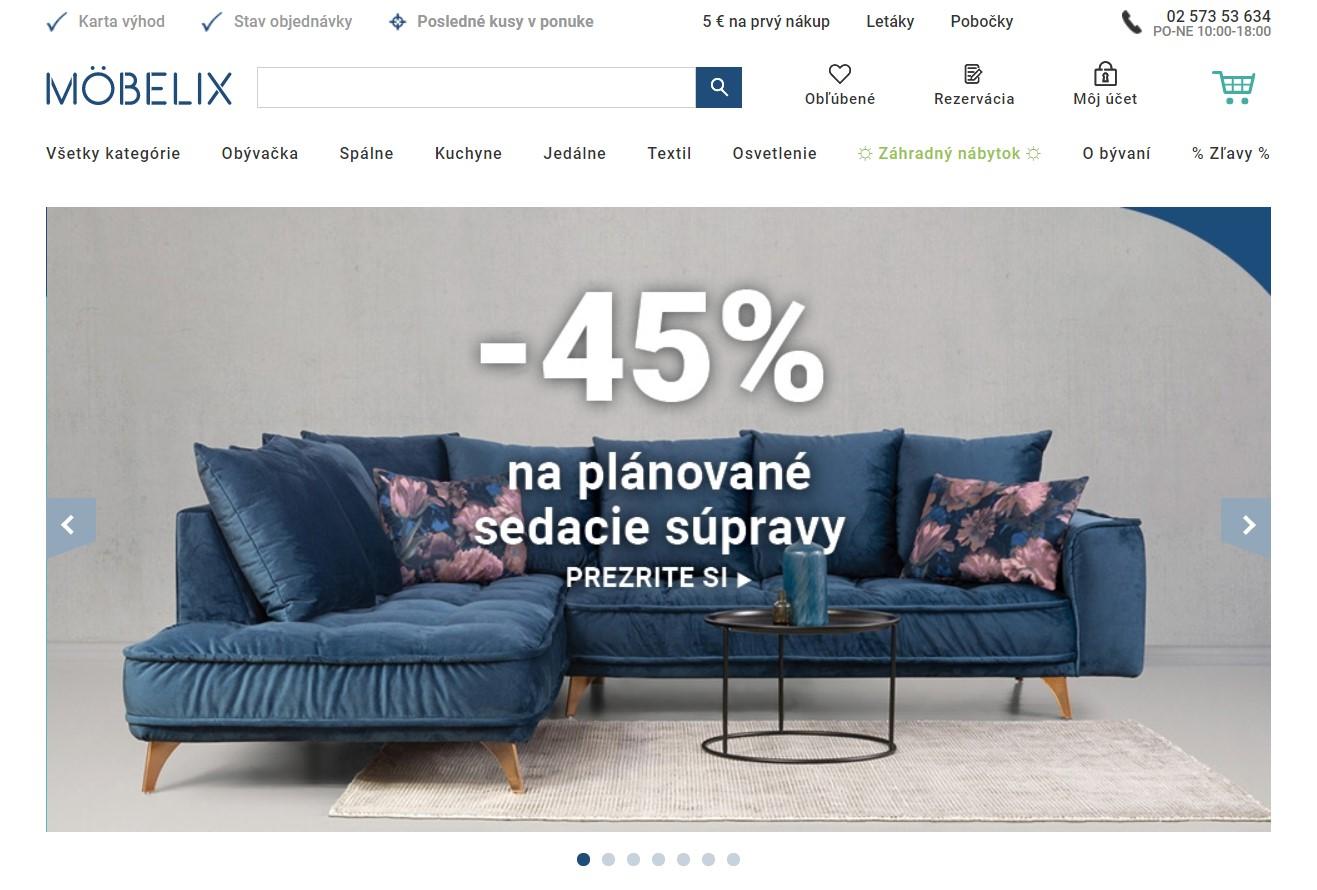 Internetový obchod moebelix.sk