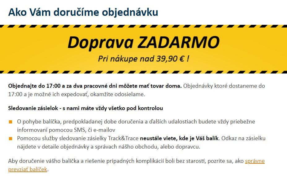 nazuby.sk doprava zdarma