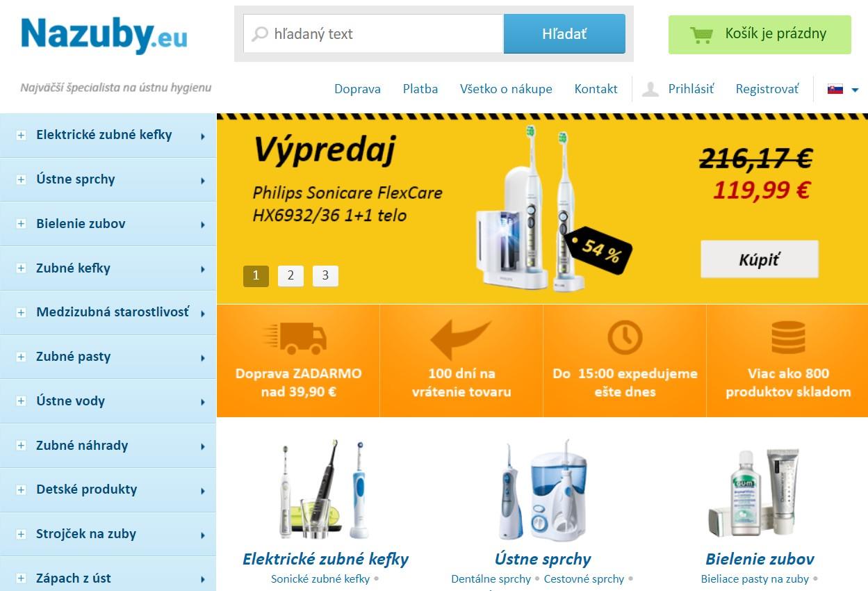 Internetový obchod nazuby.eu