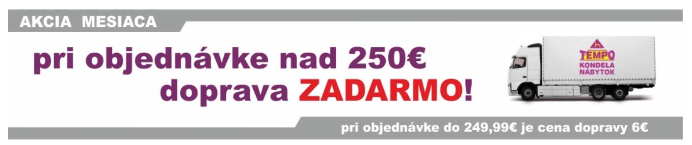 Obchod Temponabytok.sk Doprava zdarma